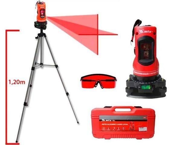 Nível Laser Giratório Com Tripé Profissional - Mtx 350339