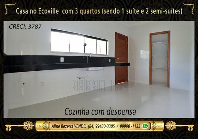 Casa no Ecoville, 3 quartos sendo 1 suíte com closet, lavabo, Etc - Foto 7