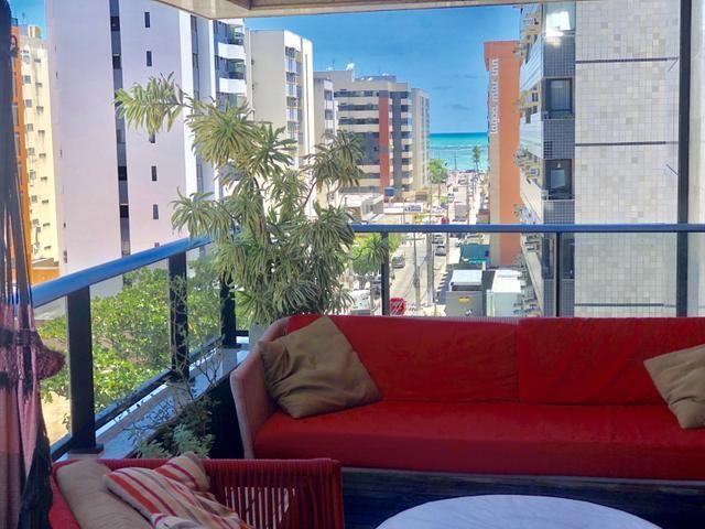 Apartamento com 180 metros, 3 suítes, mobiliado e decorado com vista para o mar - Foto 9