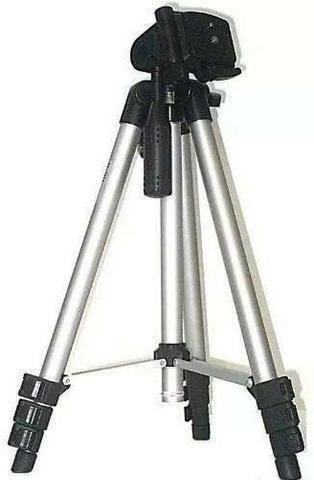 Tripé Profissional Para Celular /câmera Alumínio 1,20m - Foto 2