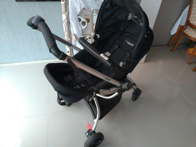 Carrinho De Bebê Kiddo Eclipse + Bebê Conforto E Base - Foto 2