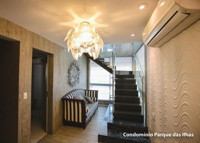 Vendo linda cobertura duplex no parque das ilhas(Porto das Dunas) 164m, toda projetada, po - Foto 15