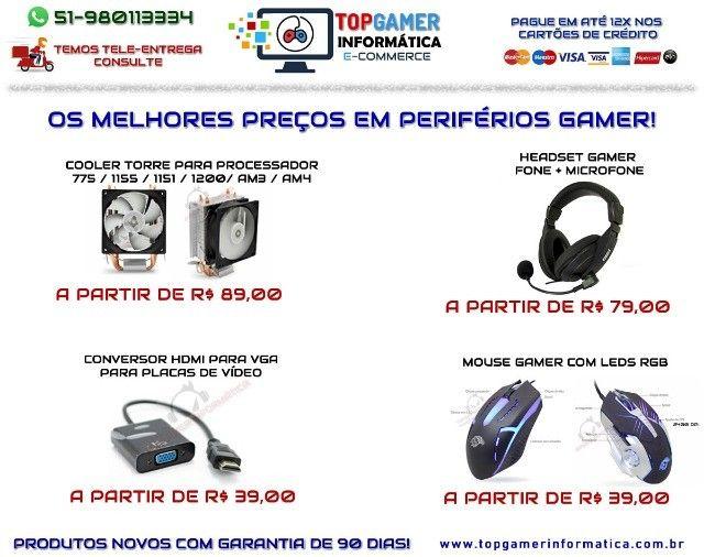 Headset Gamer Teclado Gamer Mouse Gamer Os melhores preços da região. Confira! - Foto 5