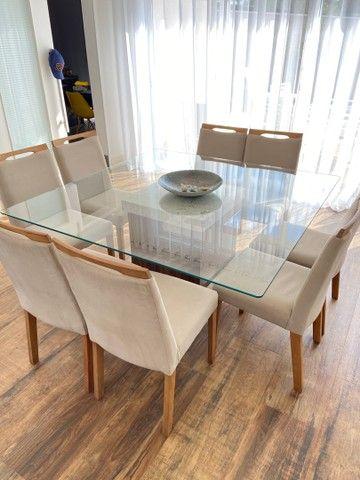 Mesa quadrada 8 lugares nova.
