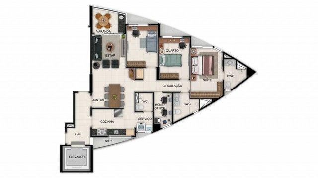 Apartamento para venda tem 84 metros quadrados com 3 quartos em Graças - Recife - PE - Foto 17