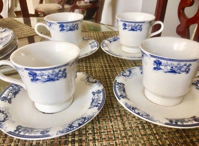 Conjunto porcelanas loucas para chá , jantar - Foto 3