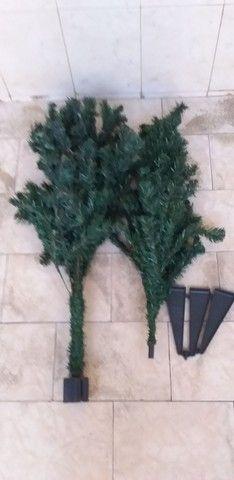 Árvore de Natal 02 peças completa com os pés  - Foto 2