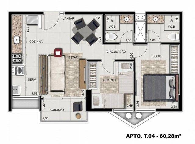 Apartamento para venda possui 64 metros quadrados com 3 quartos em Ponta Verde - Maceió -  - Foto 17