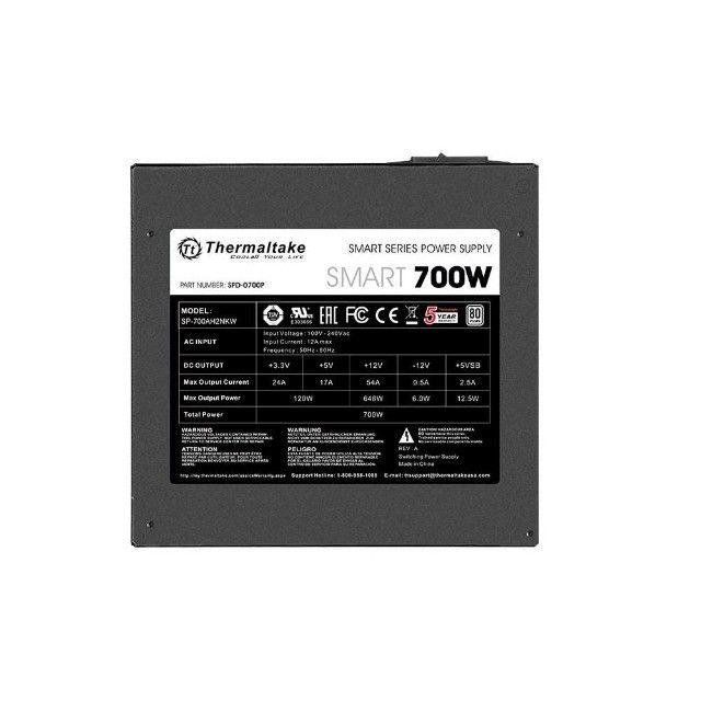 Fonte 700W Thermaltake  80 Plus White, Nova , Lacrada, Nf e garantia, Loja Mega - Foto 3