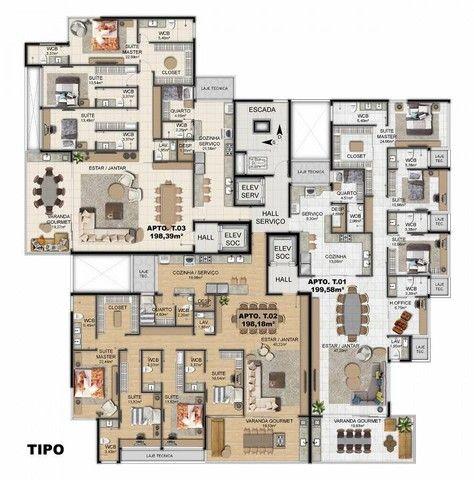 Apartamento para venda tem 200 metros quadrados com 4 quartos em Ponta Verde - Maceió - AL - Foto 8