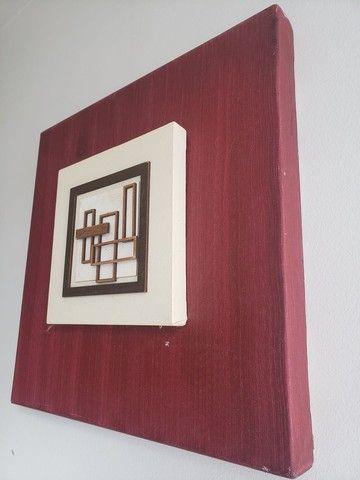 Quadro cor cereja 40x40 - Foto 3