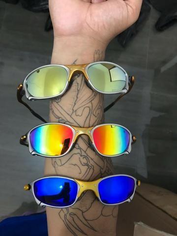 36e3f1cc49535 Óculos Oakley Double X 24K Lente Polarizada Varias Cores ...