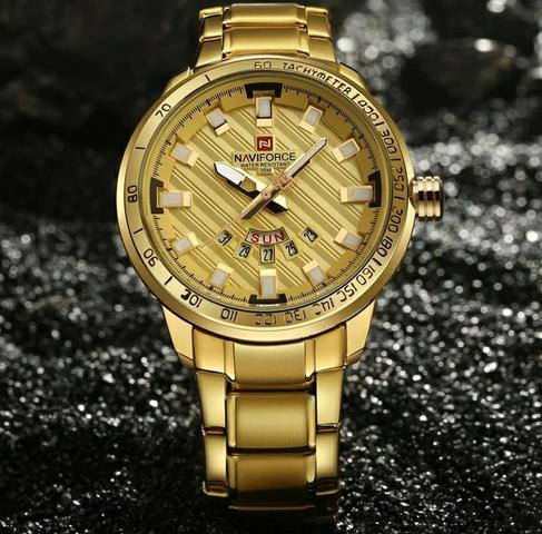 184f2a1ac14 Relógio Masculino Importado Naviforce aço inoxidável - Bijouterias ...