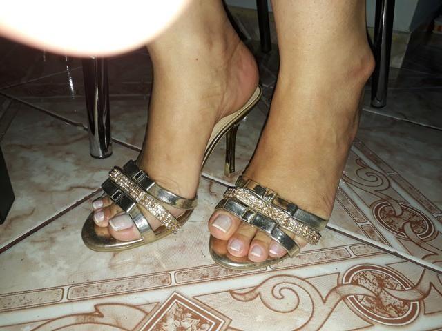 0ceace2222 Sandalia verde de salto alto - Roupas e calçados - Santa Efigênia ...