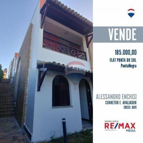 Flat estilo casa duplex com 2 dormitórios à venda, 57 m² por r$ 185.000 - ponta negra - na - Foto 14