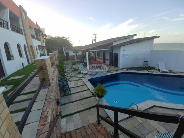 Flat estilo casa duplex com 2 dormitórios à venda, 57 m² por r$ 185.000 - ponta negra - na - Foto 4