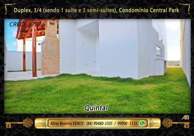 Duplex no Central Park com móveis projetados, 3 quartos, amplo espaço gourmet - Foto 15