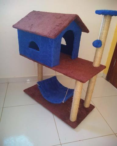 Casinha e arranhadores para gatos - Foto 5