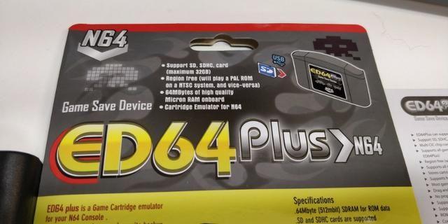 Cartucho Everdrive ED64 plus Nintendo 64 Mario Zelda Ocarina 007 todos em  um só cartucho