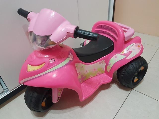 Motoca Elétrica Infantil Rosa - Foto 3