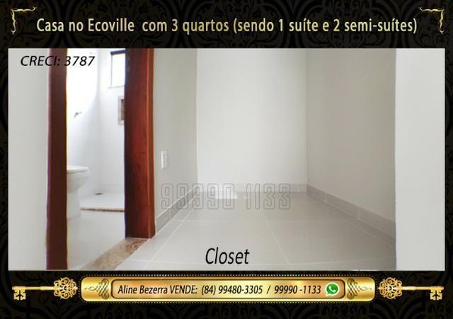 Casa no Ecoville, 3 quartos sendo 1 suíte com closet, lavabo, Etc - Foto 13