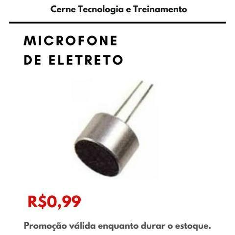 Microfone de Eletreto para Arduino, PIC