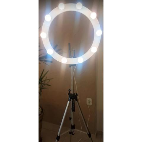 Vendo Ring Light Novo, na cor branca - Foto 4