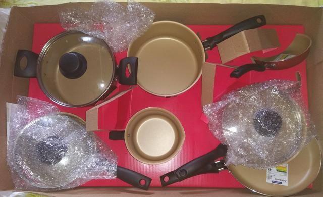Jogo de panelas antiaderentes Tramontina 7 peças (Aceita cartão) - Foto 3
