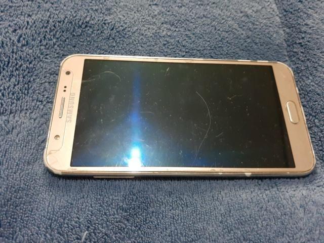 Vendo celular Samsung J7 dourado usado