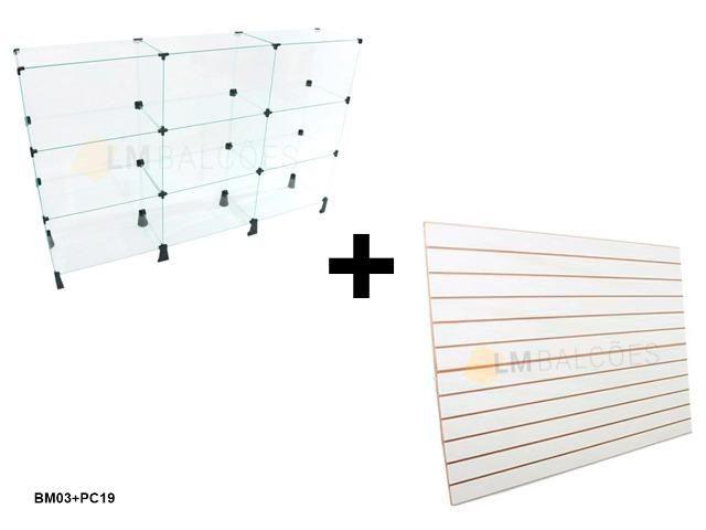 Balcão expositor de vidro 1,50 x 1,00 x 0 ,30 + Painel 0,91 x 1,37 frete gratis SP