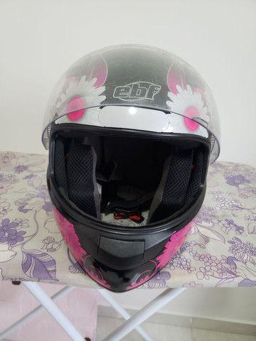 Capacete EBF feminino fada preto e rosa - Foto 4