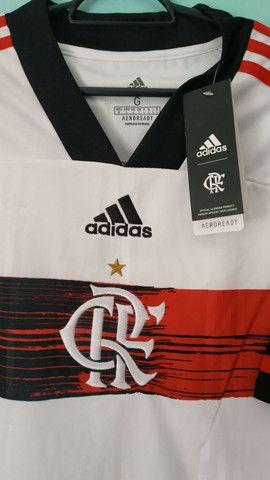 Camisa do Flamengo Branca Masculina 2020/21 - Foto 2