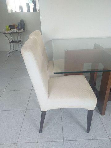Mesa de vidro + 4 cadeiras  - Foto 2