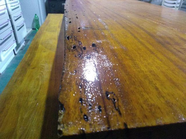 Mesa rústica de madeira  - Foto 2