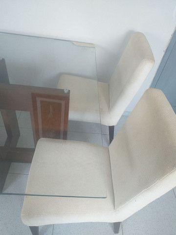 Mesa de vidro + 4 cadeiras  - Foto 3