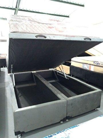 Cama baú, box baú, base baú, cama box baú novos reforçado  - Foto 6