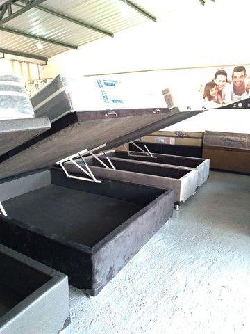 Cama baú, box baú, base baú, cama box baú novos reforçado  - Foto 5