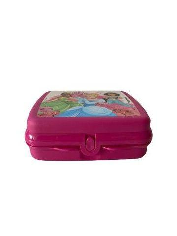 Kit Tupperware Princesas - porta sanduíche quadrado + copo bico 470 ml  - Foto 2