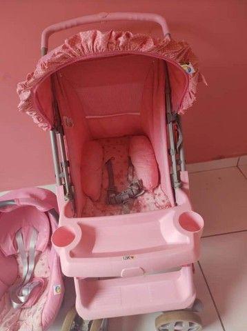 Carrinho e bebê conforto menina - Foto 3