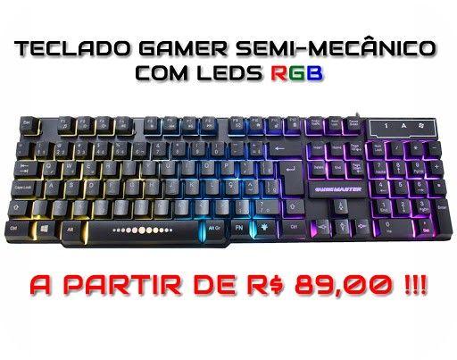 Headset Gamer Teclado Gamer Mouse Gamer Os melhores preços da região. Confira! - Foto 2