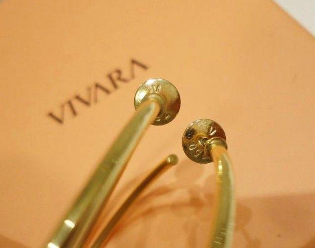 Brincos Angola Vivara em ouro amarelo 18k, com certificado. - Foto 3