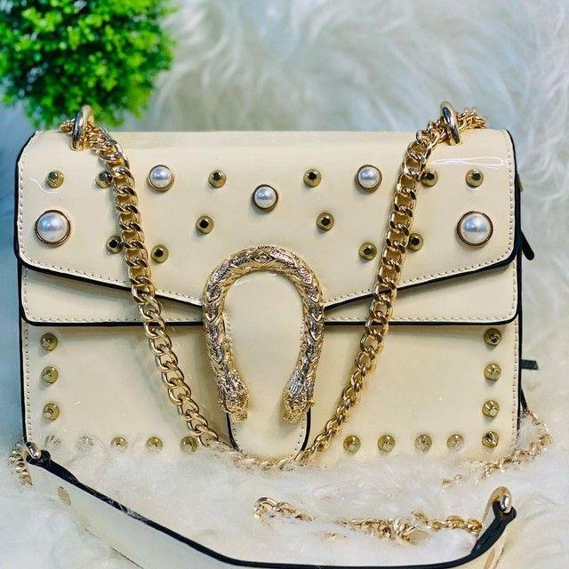 Bolsa transversal feminina Branca  - Foto 2