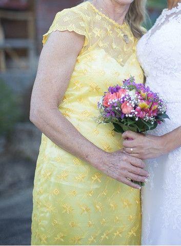 Vestido de festa amarelo - feito sob medida - usado apenas uma vez - Foto 3