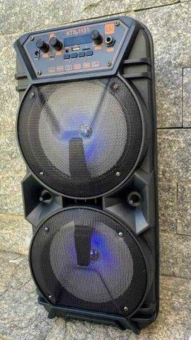 Caixa de som Bluetooth KTS 1131 com controle e microfone ?? - Foto 6