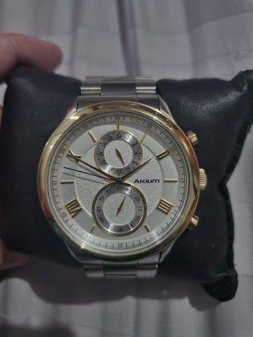 Relógio Akium nunca usado ! Original Vivara de prata e folheado a ouro