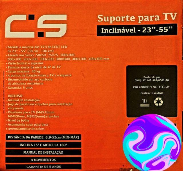 Suporte Brasforma Sbrp14 Para Tv/monitor De 23 A 55 Preto - Foto 4