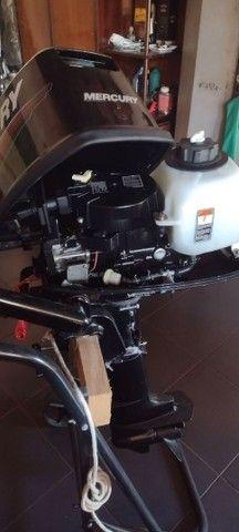 Bote Baleeira com motor de 5 Hp Mercury  - Foto 3
