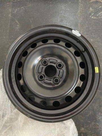 Jogo de rodas de ferro (4un) Honda City aro 15 originais novas 600 reais  - Foto 3