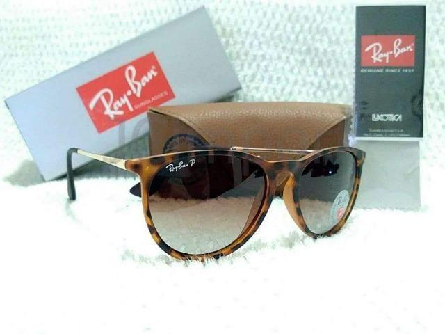 4114ff621 Óculos de Sol Ray Ban Erika Tartaruga Polarizado RB4171 Novo ...