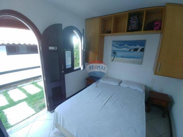 Flat estilo casa duplex com 2 dormitórios à venda, 57 m² por r$ 185.000 - ponta negra - na - Foto 15